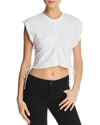 T By Alexander Wang - Ruched Muscle Tee - Lyst