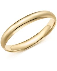 Bloomingdale's - 14k Yellow Gold Polished Bangle - Lyst
