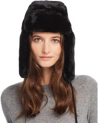 Echo - Suede-tie Faux Fur Trapper Hat - Lyst