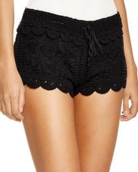 9e466cf92483c Hot Surf Gypsy - Crochet Swim Cover-up Shorts - Lyst