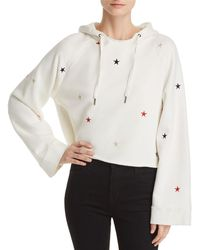 Pam & Gela - Embroidered Cropped Hooded Sweatshirt - Lyst