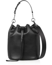AllSaints - Ray Leather Bucket Bag - Lyst