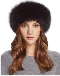 Maximilian - Fox Fur Knit Headband - Lyst