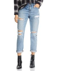 Pistola - Mason Distressed High-rise Girlfriend Jeans In Like That - Lyst