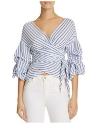 Olivaceous - Tiered Wrap Stripe Top - Lyst