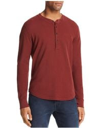 7 For All Mankind - Long Sleeve Henley - Lyst