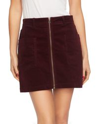 1.STATE - 1. State Zip-front Mini Skirt - Lyst