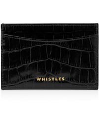 Whistles - Shiny Embossed Croc Card Holder - Lyst