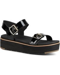 UGG - Women's Angie Leather Platform Sandals - Lyst