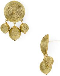 Aqua - Metallic Ball Drop Earrings - Lyst