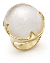 Ippolita - 18k Yellow Gold Rock Candy® Mother-of-pearl And Quartz Doublet Ring - Lyst