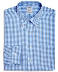 Brooks Brothers - Gingham Regular Fit Dress Shirt - Lyst