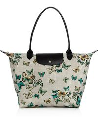 Longchamp - Le Pliage Papillon Large Shoulder Bag - Lyst