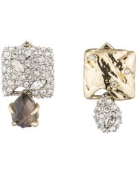 Alexis Bittar - Mismatched Crystal Cluster Stud Earrings - Lyst