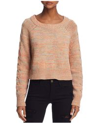 Honey Punch - Cable-sleeve Cropped Jumper - Lyst