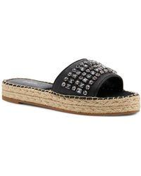 Botkier - Women's Julie Leather Espadrille Slide Sandals - Lyst