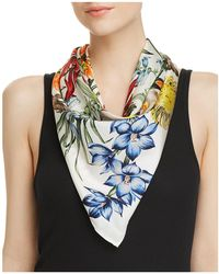 Echo - Blooms Of Oceania Silk Square Scarf - Lyst
