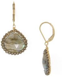 Dana Kellin - Faceted Stone Drop Earrings - Lyst