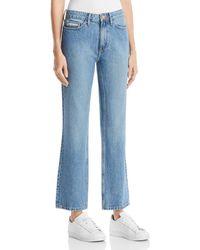 Calvin Klein Jeans - High Rise Straight Jeans In Seinne Blue - Lyst