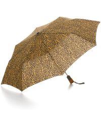 Bloomingdale's Cheetah Print Umbrella - Multicolour