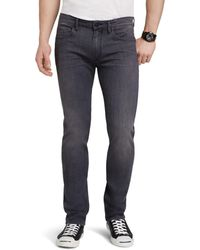 PAIGE - Transcend Federal Slim Fit Jeans In Walter Grey - Lyst