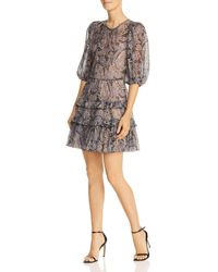 Rebecca Taylor - Paisley Puff-sleeve Dress - Lyst