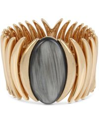 Robert Lee Morris - Oval Stone Sculptural Stretch Bracelet - Lyst