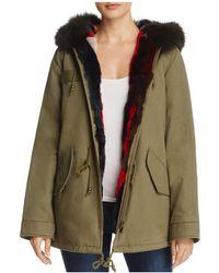 Aqua - X Maddie & Tae Reversible Fur-lined Parka Jacket  - Lyst