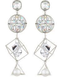 Atelier Swarovski - By Mary Katrantzou Nostalgia Triple Drop Earrings - Lyst