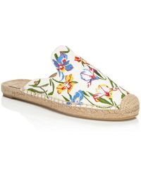 Tory Burch - Women's Max Floral Embroidered Espadrille Mules - Lyst
