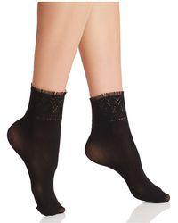 Hue - Fringe Cuff Ankle Socks - Lyst