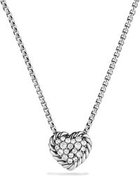 David Yurman - Châtelaine Heart Pendant Necklace With Diamonds - Lyst