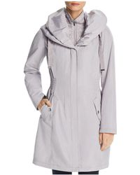 Laundry by Shelli Segal - Smocked Windbreaker Raincoat - Lyst