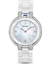 Bulova - Rubaiyat Diamond & Mother - Of - Pearl Dial Watch - Lyst