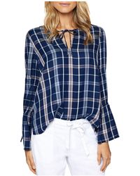 Sanctuary - Flora Plaid Tie-detail Blouse - Lyst