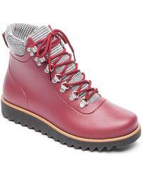62d0b3f827aa01 Bernardo - Winnie Lace-up Rubber Rain Boots - Lyst