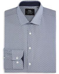 W.r.k. - Stripe & Dot Slim Fit Dress Shirt - Lyst