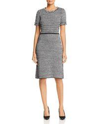 2fedba5e7b60 Lyst - Tory Burch Norfolk Tweed Dress in Gray