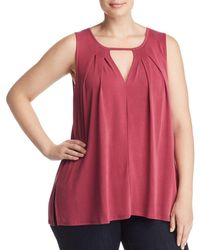 Lucky Brand - Pleated Cutout Tank - Lyst
