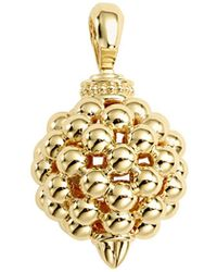 Lagos - 18k Caviar Gold 25mm Lattice Ball Enhancer - Lyst