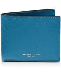 3c1baabaf6dfe Michael Kors - Harrison Cross Grain Leather Slim Wallet - Lyst