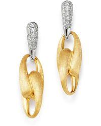 Marco Bicego - 18k Yellow Gold & 18k White Gold Lucia Diamond Drop Earrings - Lyst