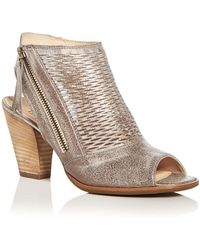Paul Green - Women's Willow Leather Open Toe High Heel Booties - Lyst