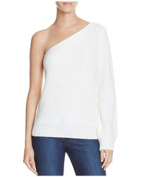 Olivaceous - One Shoulder Sweater - Lyst