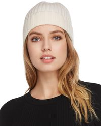 C By Bloomingdale's - Chunky Rib-knit Cashmere Beanie - Lyst