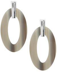 Ralph Lauren - Lauren Acetate Oval Loop Drop Earrings - Lyst