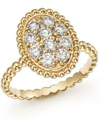 Bloomingdale's - Diamond Oval Beaded Ring In 14k Yellow Gold, .80 Ct. T.w. - Lyst