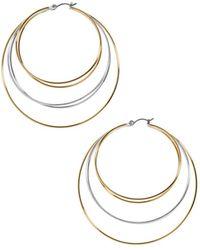 BaubleBar - Rielle Layered Hoop Earrings - Lyst