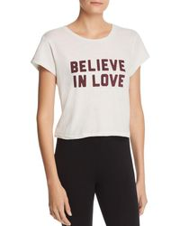 Spiritual Gangster - Believe In Love Cropped Tee - Lyst