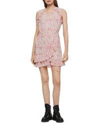 bb54398fd The Kooples Rosa Rosa Floral-print Mini Dress in Red - Lyst
